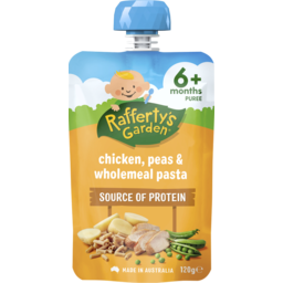 Photo of Raffertys Garden Chicken, Peas & Wholemeal Pasta 120g