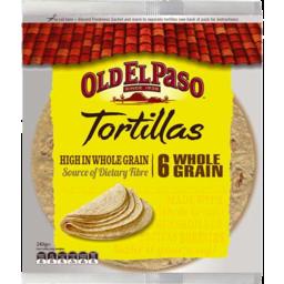 Photo of Old El Paso Wholegrain Tortillas 6pk