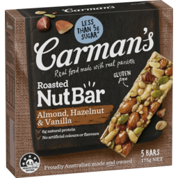Photo of Carmans Roasted Nut Bars With Almond, Hazelnut & Vanilla 175g