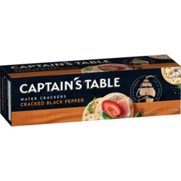 Photo of Captains Table Cracked Pepper Water Biscuits 125g