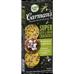 Photo of Carmans Super Seed & Grain Crackers Rosemary & Sea Salt 80gm