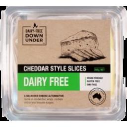 Photo of Dairy Free Down Under Cheddar Cheese Slice Vegan 200g