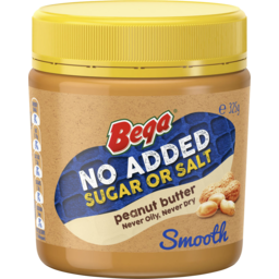 Photo of Bega No Added Sugar Or Salt Peanut Butter Smooth 325g