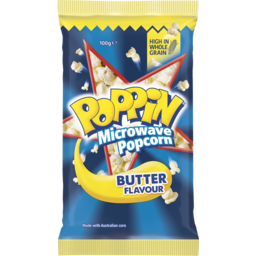 Photo of Poppin Microwave Popcorn Triple Butter Flavour Explosion 100g