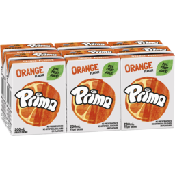 Photo of Prima Orange Flavour Fruit Drink 6x200ml