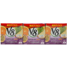 Photo of V8 Fruit & Veg Juice Tropical 3x250ml 3x250ml