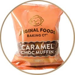 Photo of Original Foods Muffin Caramel Choc 140g