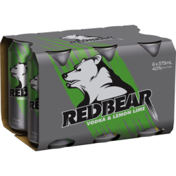 Photo of Red Bear Redbear Vodka & Lemon Lime 4%
