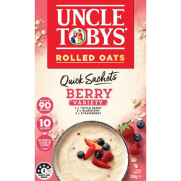 Photo of Uncle Tobys Oats Berry Variety Quick Sachets 10 Pack 350g