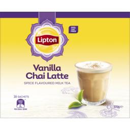Photo of Lipton Instant Latte Sachets Vanilla Chai 16 Pack 370g