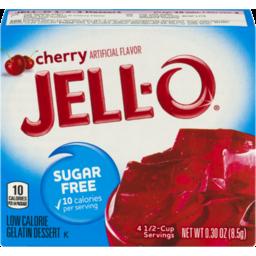 Photo of Jell-O Cherry Flavor Sugar Free Low Calorie Dessert