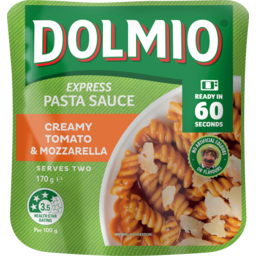 Photo of Dolmio Creamy Tomato & Mozzarella Express Pasta Sauce Pouch 170g