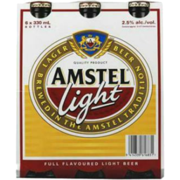Photo of Amstel Light Bottles 6 x 330ml Bottles