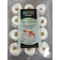 Photo of Heritage Delight Meringue Mini Nests 12 Pack