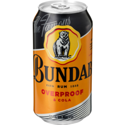 Photo of Bundaberg Over Proof & Cola Can 375ml