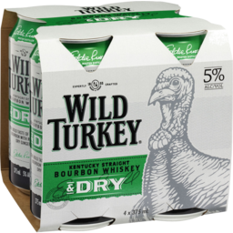 Photo of Wild Turkey Bourbon & Dry Cans