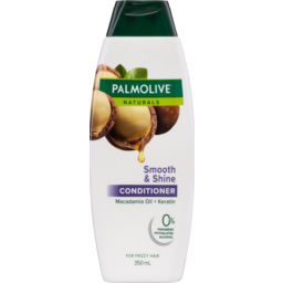 Photo of Palmolive Naturals Smooth & Shine Macadamia Oil + Keratin Conditioner For Frizzy Hair 350ml