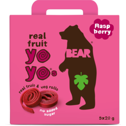 Photo of Bear Raspberry Yo Yos Real Fruit & Veg Rolls Multipack 100g