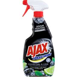 Photo of Ajax Spray n' Wipe Liquid Cleaner Charcoal & Lime Trigger 475ml