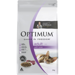 Photo of Optimum Dry Cat Food Adult With Tuna 1+ Years 2kg