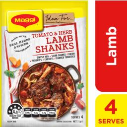 Photo of Maggi Recipe Base Tomato & Herb Shanks 31g