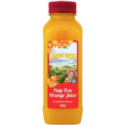 Photo of Harvey Fresh Full Strength Pulp Free Orange Juice 450ml