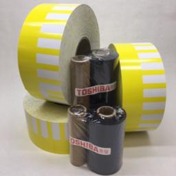 Photo of Printer, Toshiba, Consumables Bundle, Yellow/White, 3 x 7K + 2 ribbons (for TTEC B-SA4TM)
