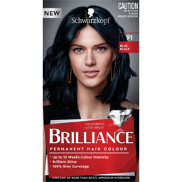 Photo of Schwarzkopf Brilliance Blue Black 91 Permanent Hair Colour One Application