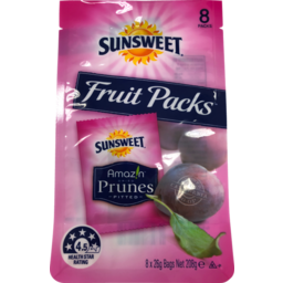 Photo of Sunsweet Prunes Snack 8 Pack 26g