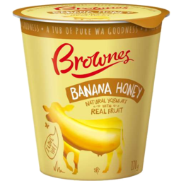 Photo of Brownes Natural Yoghurt With Banana Honey 170gm