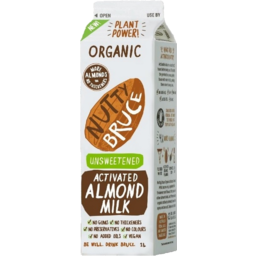Photo of Nutty Bruce Organic Almond Milk Unsweetened 1L