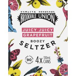 Photo of Brookvale Union Seltzer Juicy Juicy Grapefruit Cans