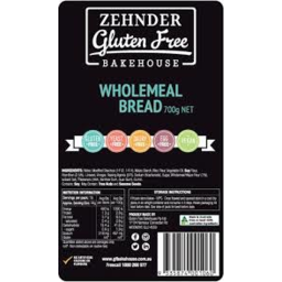 Photo of Zehnder Gluten Free Bread Wholemeal (Frozen) 700gm
