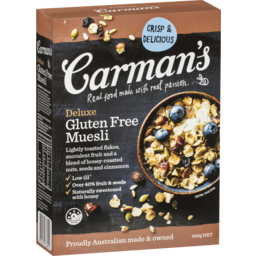 Photo of Carmans Muesli Deluxe Gluten Free 400g