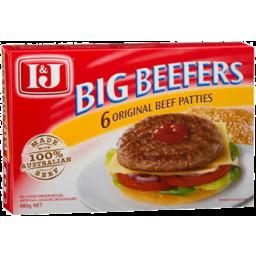 Photo of I&J Beefers 6pk 480gm