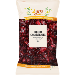 Photo of JC's Cranberries Dried 500g