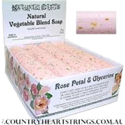 Photo of Veg. Soap - 'Rose Petal+Glycerine' 100g