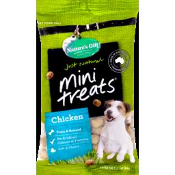 Photo of Nature's Gift Mini Treats Chicken Dog Treats 290g