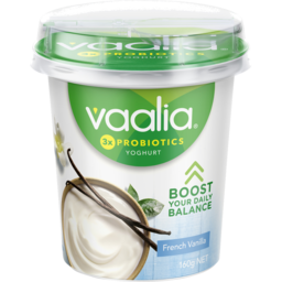 Photo of Vaalia Yoghurt French Vanilla 160g