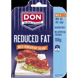Photo of Don Salami Sliced 50% Less Fat Mild 100g