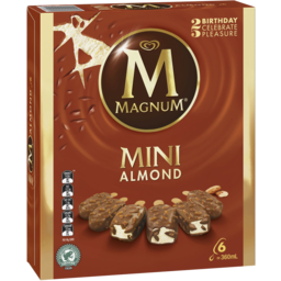 Photo of Magnum Mini Ice Cream Almond 6 Pack 360ml