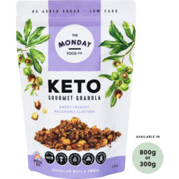 Photo of The Monday Food Co - Granola - Keto Macadamia Clusters - 800g