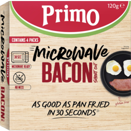 Photo of Primo Microwave Bacon Short Cut 120g