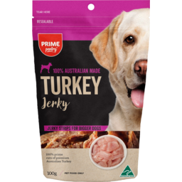 Photo of Prime Pantry Jerky Turkey Strips For Bigger Dogs 100% Australian Made 100g
