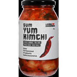 Photo of Living Goodness Sum Yum Kimchi Chinese Cabbage Pak Choy Spring Onion Chilli 500g