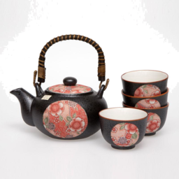 Photo of JSTYLE Beni Red Tenmoku Tea For Four Set