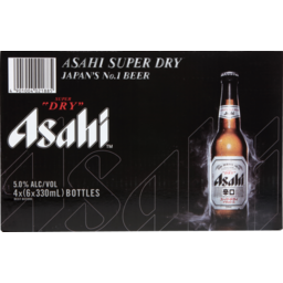 Photo of Asahi Super Dry 5% 4 X 6x330ml