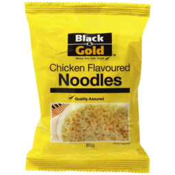 Photo of Black & Gold Chicken Flavoured Noodles 85g