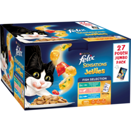 Photo of Purina Felix Sensations Jellies Fish Selection Cat Food 27 Pack 2.3kg
