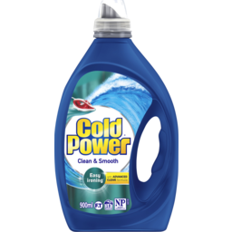 Photo of Cold Power Advanced Clean, Clean & Smooth, Washing Liquid Laundry Detergent, 900ml